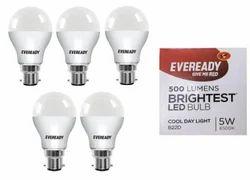 Eveready Base B22D 5-Watt LED Bulb- 5 Pieces Pack