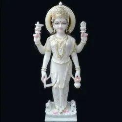 White Marble Parvati Mata Statue