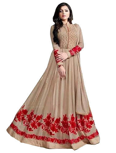 Occasion Party Wear Gown Style Anarkali Suits Dress Material at Rs ...