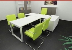 Meeting Table With Green Chair