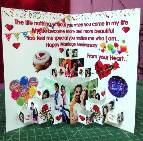 Awe Inspiring White Pop Up Card Handmade Popup Birthday Card Rs 300 Piece Personalised Birthday Cards Veneteletsinfo