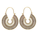 Cluster Marquese Plain Artificial Brass Gold Plated Long Earrings