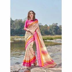 Silk Party Wear Ladies Designer Saree
