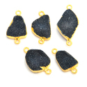 Black Druzy Electroplated Connector