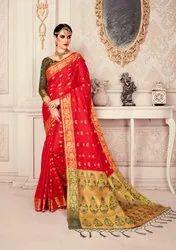 F3 Fashion Printed Jharonka Vol 4 Saree, 6.3 m (With Blouse Piece)