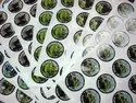 White Round Printed Paper Sticker, Packaging Type: Roll