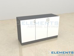 Wood White-Grey Office Cabinet