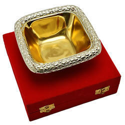 Silver And Gold Plated Sheet Bowl