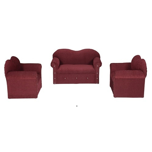 Red Wood And Foam Kids Sofa Set Rs