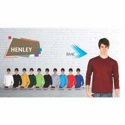 Mens Henley Full Sleeves T-Shirt