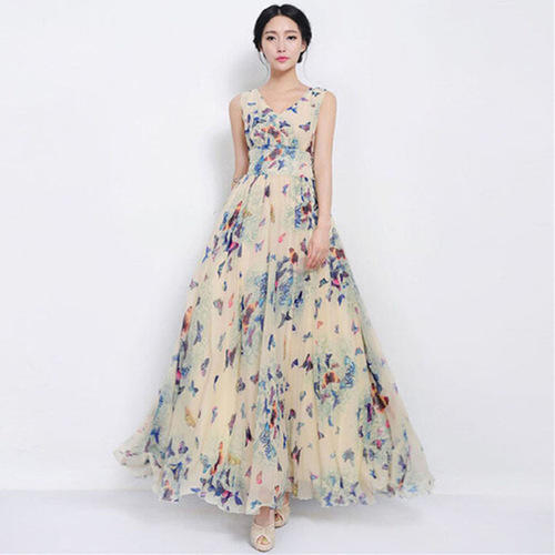 printed gowns