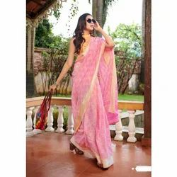 Casual Wear Printed Linen Saree