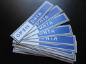 Blue Metalized Sticker Label