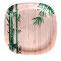 Green Bamboo Melamine Plate