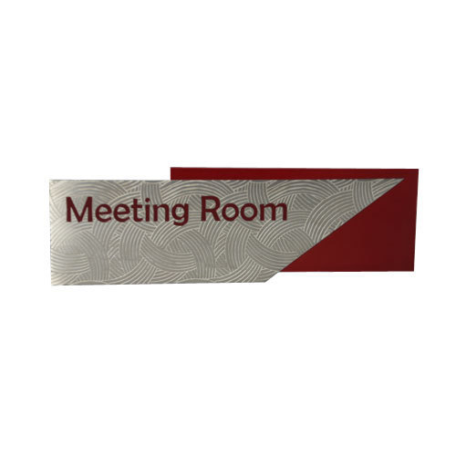 room and board logo. meeting room sign board and logo