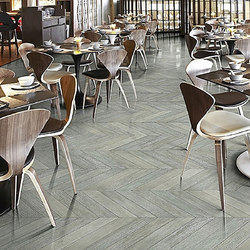 English Grey Chevron Wooden Flooring