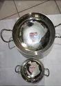 "Stainless Steel Mathar Kadhai, For Kitchen, Size: 8"", 14"""