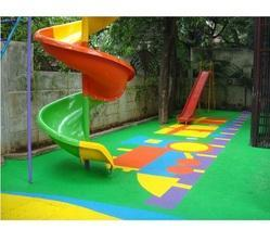 Outdoor Play Area Rubber Flooring