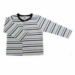 Magic Train Kids Striped Cotton Full Sleeve T - Shirt