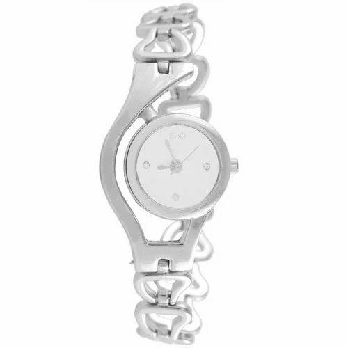 16f574dcdbfd Analog Silver Chain Watch