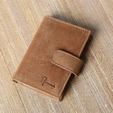 Vintage Stylish Hunter Tan Brown Pure Leather Card Holder