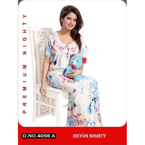 bb80d6257d Rayon Women    s Printed Full Length Nighty
