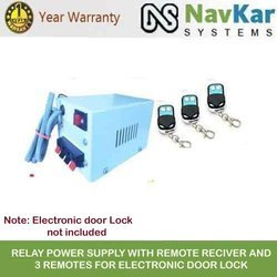 NAVKAR Relay Power Supply with Remote RECIVER and 3 Remotes for Electronic Door Lock