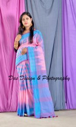 Plain Party Wear Ladies Handloom Ikkat Saree, Length: 6.3 m With Blouse Piece