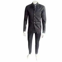 Formal Plain Mens Stylish Black Coat
