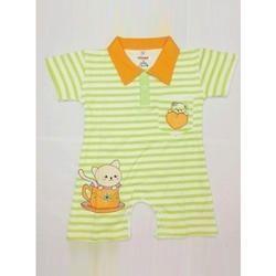 Collar Neck Infant Romper