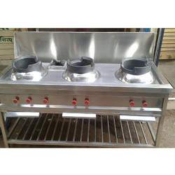 Chinese Gas Range with Exhaust Hood