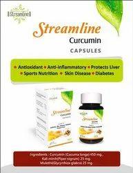 Streamline Curcumin Capsules, Packaging Type: Bottles, Grade Standard: Medicine Grade