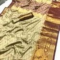 Rich Cotton Silk With Emboss Design Saree