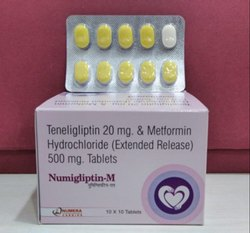Teneligliptin 20mg Methformin Hydrochloride (Extebded Release) 500mg Tables