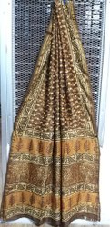 Chanderi Bagru Printed Saree