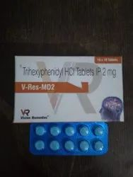 Trihexyphenidyl HCL Tablets IP 2 Mg