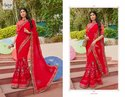 Red Elegant Designer Saree