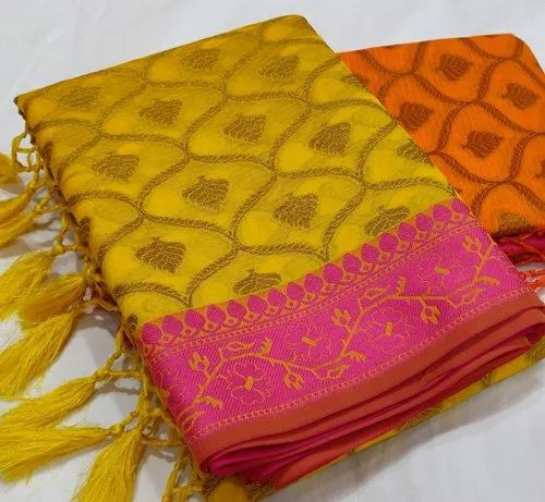 Kora Cotton Saree, Hand Made ,6.3 M (with Blouse Piece), Rs 999 /piece |  ID: 20444377330