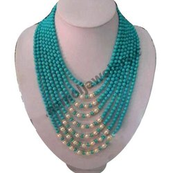Gemstones Natural Turquise Turquoise Bead Necklace