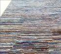 Multi Color Handmade Modern Design Wool Viscose Rug