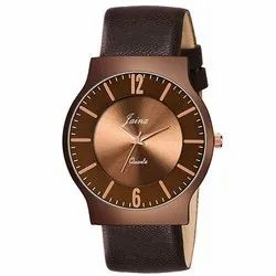 Jainx Brown Slim Dial Analog Watch - For Men JM353