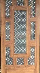RE083 Teak Wood Safety Door