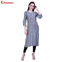 Glory Women Embroidery Straight Kurta