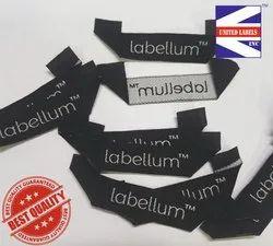 Loop fold woven label