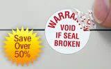 Custom Made Warranty Label, Packaging Type: Standard
