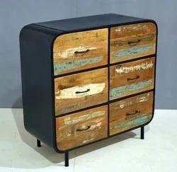 6 Drawers Rawin Side Board, Dimension: 90 x 45 x 90 cm