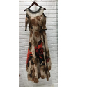 Ladies Round Neck Printed Gown
