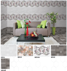 6033 (L, H, HA, D, DF) Hexa Ceramic Digital Wall Tiles