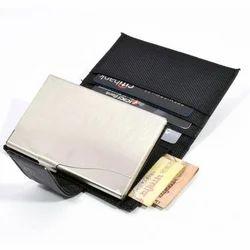 Black Barrel PU Keychain & 3 In 1 Wallet Combo