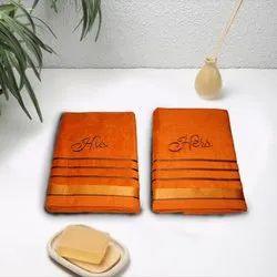 Cotton Couple Towel Set for Gifting